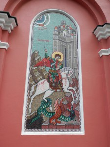 Saint George, slaying a dragon